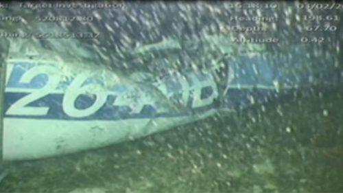 Überreste des Flugzeugs wurden am Grund des Ärmelkanals gefunden. Reuters/AAIB