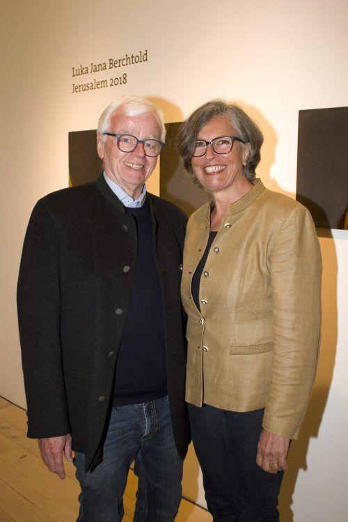 Vernissagegäste: Martin und Martina Rhomberg.