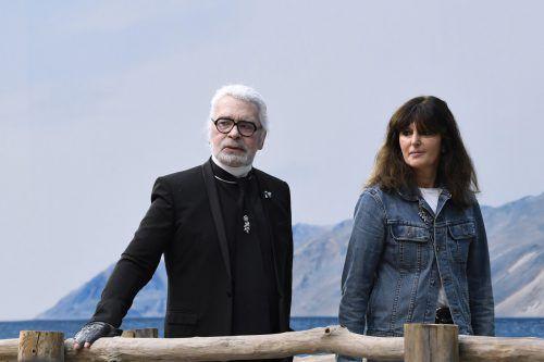 Virginie Viard wird die Nachfolgerin von Karl Lagerfeld. Die beiden haben jahrelang zusammengearbeitet. AFP