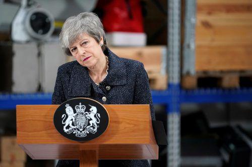 Am Dienstag lässt die Premierministerin über den Brexit-Deal abstimmen. reuters