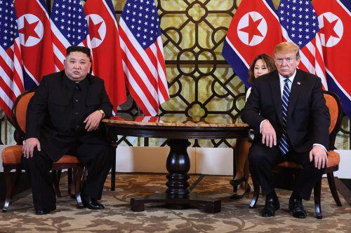 Am Donnerstag war alles anders zwischen Kim Jong-Un und Donald Trump. AFP