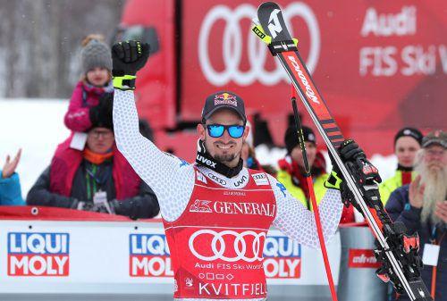Am Saisonende in beneidenswerter Form: Der Südtiroler Dominik Paris gewann in Kvitfjell Abfahrt und Super-G.gepa