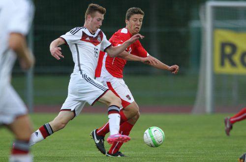 Anes Omerovic (r.) machte als Jungspund internationale Erfahrungen mit dem ÖFB. Nun will er mit dem FC Dornbirn aufsteigen.gepa