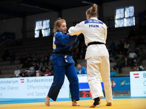 Nach ÖM-Silber in der U-23-Klasse und Rang zwei im Europacup war Anna-Lena Schuchter bei den nationalen U-21-Titelkämpfen die Nummer eins in der 70-kg-Klasse.GEPA