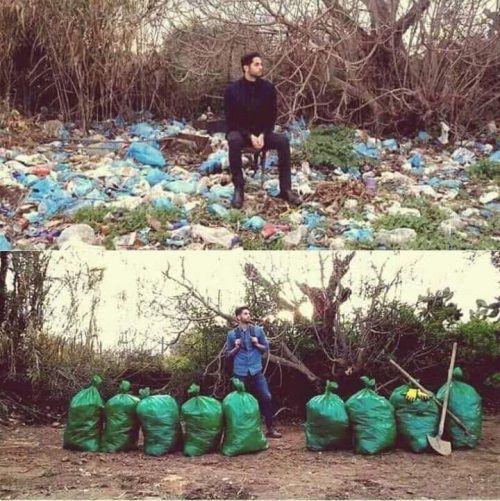 """Auf der ganzen Welt räumen Social-Media-Nutzer säckeweise Müll weg und zeigen Vorher-Nachher-Bilder davon im Netz. """"Trash Challenge"""" nennt sich die Aktion, die Menschen dazu animieren soll, gegen die Umweltverschmutzung aktiv zu werden. Den Beiträgen zufolge wurden so unter anderem schon Straßen und Strände in Nepal, Mexiko, Nigeria und den USA von achtlos weggeworfenem Abfall befreit. Byron Román"""