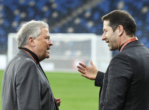 Auf Ursachensuche: ÖFB-Teamchef Franco Foda (rechts) und ÖFB-Präsident Leo Windtner.gepa
