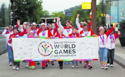 Bei den Weltsommerspielen 2015 in Los Angeles brachte das 31-köfige Vorarlberger Aufgebot eine Goldene, sechs Silberne und elf Bronzene mit zurück ins Ländle und war damit das erfolgreichste Bundesland.VN/Paulitsch