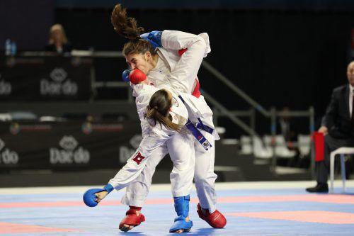 Karatekämpferin Bettina Plank ist nicht zuletzt wegen ihrer Silbernen 2015 in Baku eine der größten OÖC-Medaillenhoffnungen.ÖKB/Roth