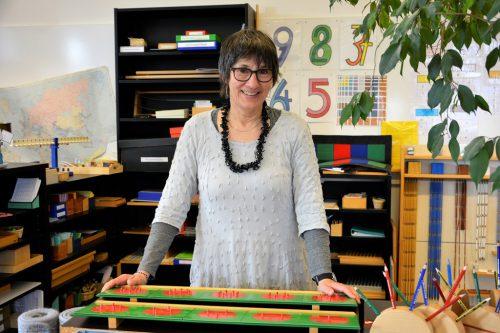 Birgit Sieber-Mayr unterrichtet als Montessori-Pädagogin an der Volksschule Lustenau-Kirchdorf. Ihr Anliegen wäre die Gesamtschule bis 14 Jahre. eh