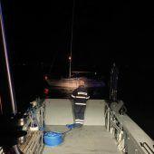 Segelboot in Fußach auf Grund gelaufen