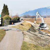 Hochwasserschutz: Radweg verlegt