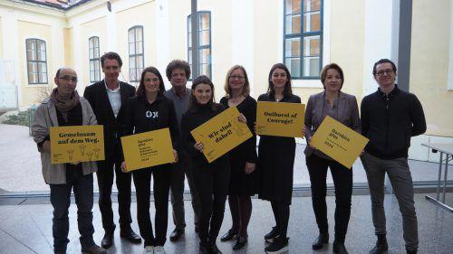 Kulturhauptstadtteam mit Bürgermeisterin Andrea Kaufmann und Bettina Steindl: Was folgt, sind Gespräche mit Landesstatthalerin Barbara Schöbi-Fink. dornbirn plus