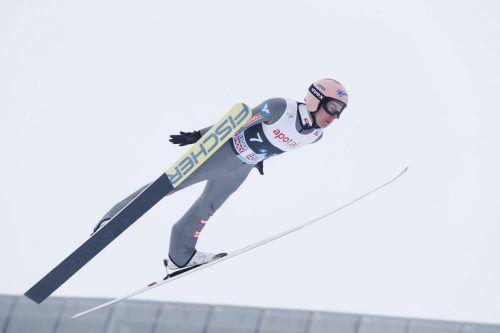 Den ersten Durchgang konnte Stefan Kraft noch für sich entscheiden.APA
