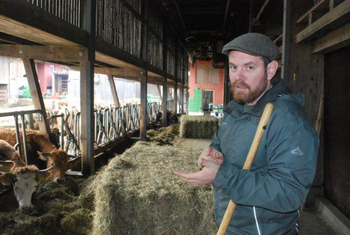 Der Lustenauer Landwirt Simon Vetter tritt am 26. Mai für die Grünen an. ERH