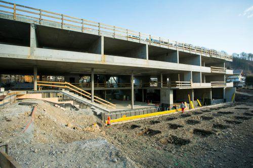 Der Neubau der Volksschule Dornbirn-Haselstauden soll noch in diesem Jahr abgeschlossen werden.VN/Paulitsch