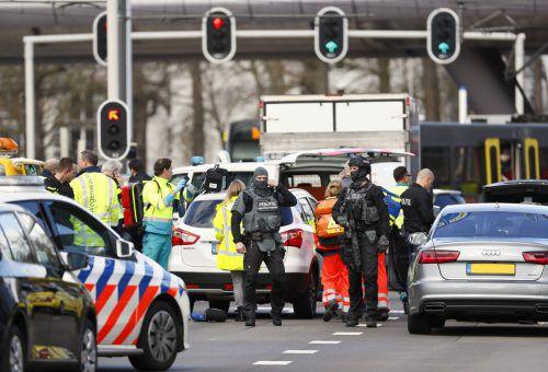 Der Tatort im Westen der Stadt wurde abgeriegelt. Die Schüsse fielen gegen 10.45 Uhr vormittags.AFP