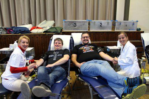 Die alljährliche Blutspende-Aktion des Österreichischen Roten Kreuzes Ende März in der Lochauer Festhalle hat schon langjährige Tradition.bms