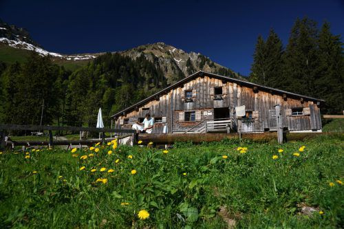 Die Alpe Obere Falz ist ein sehr beliebter Anziehungspunkt für Wanderer. L. Berchtold