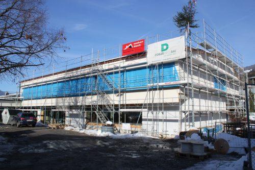 Die Bauarbeiten am Bildungscampus Bludesch sind bereits weit fortgeschritten.