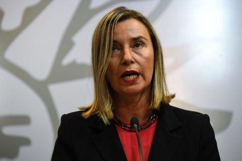 Die EU-Position habe sich nicht verändert, sagte Außenbeauftragte Mogherini. AFP