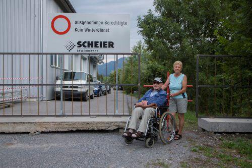 Die Firma Scheier sorgt in Bürs für Gesprächsstoff. Dazu gehört auch der Gehweg durch das Firmengelände. VN/Paulitsch