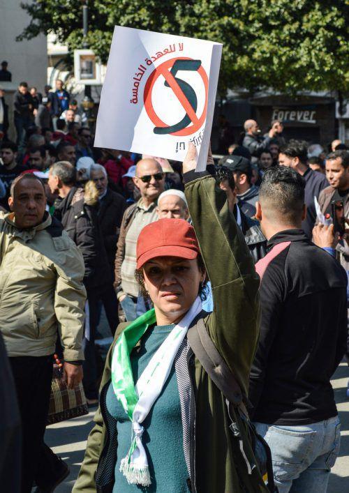 Die massiven Proteste in Algerien reißen nicht ab. AFP