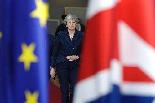 Die britische Premierministerin will um eine Verlängerung der Austrittsfrist bis zum 30. Juni bitten. AFP