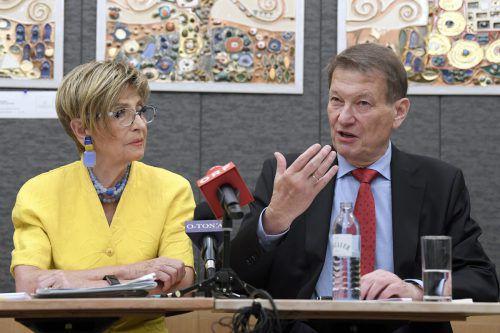 Die Seniorenratsvorsitzenden Korosec (l., ÖVP) und Kostelka (SPÖ) wehren sich. APA