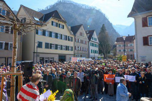 Am 11. November 2018 fand die erste Sonntagsdemonstration statt. Seither gab es 24 weitere in ganz Vorarlberg. VN/Lerch