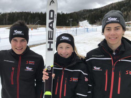 Die Vorarlberger Jakob Greber, Angelina Salzgeber und Marco Feurstein zeigten auch am zweiten Tag der Titelkämpfe groß auf.VSV