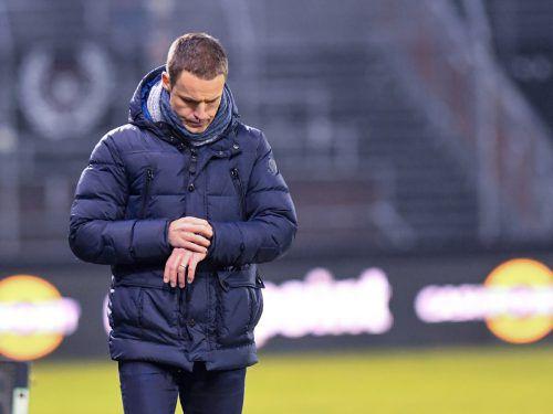 Die Zeit ist abgelaufen. Trainer Werner Grabherr musste in Altach gehen.gepa