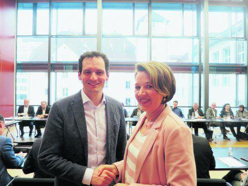 Dornbirns Stadtchefin Andrea Kaufmann will Julian Fässler zu ihrem Stellvertreter machen. VN/Hagen