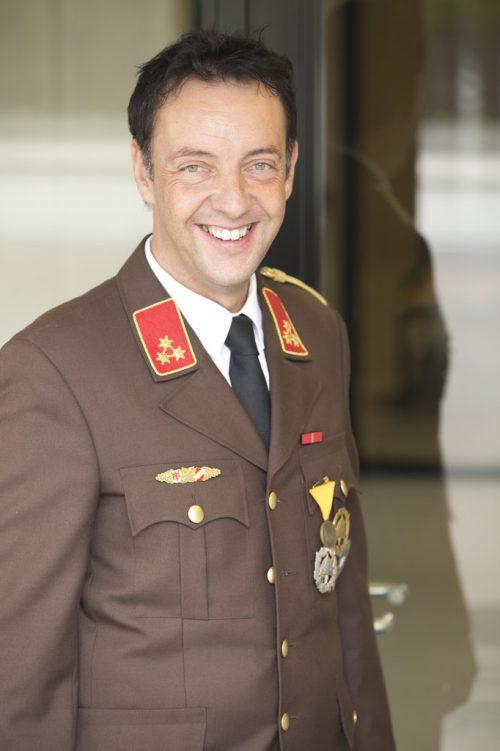 Ehrenkommandant Karl-Heinz Beiter.