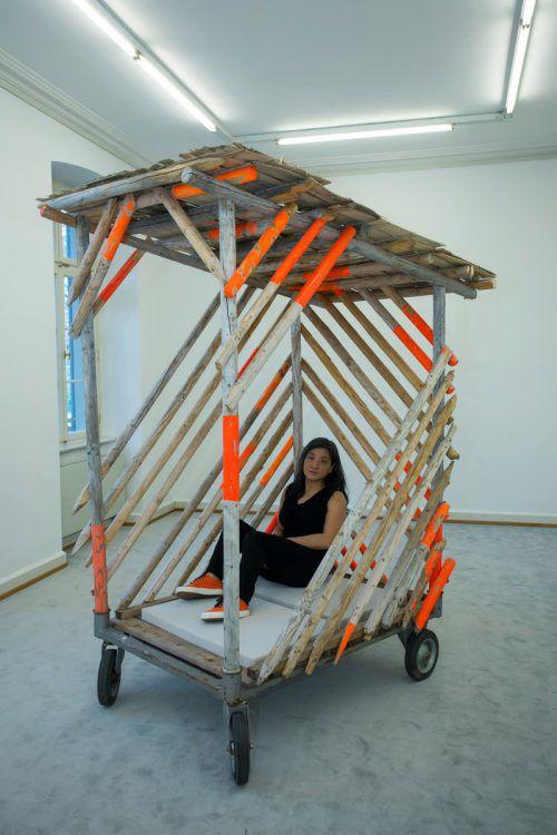 Eine mobile Behausung auf Zeit, angelehnt an eine traditionelle mexikanische Strandhütte, baute Germaine Koh.VN/Paulitsch