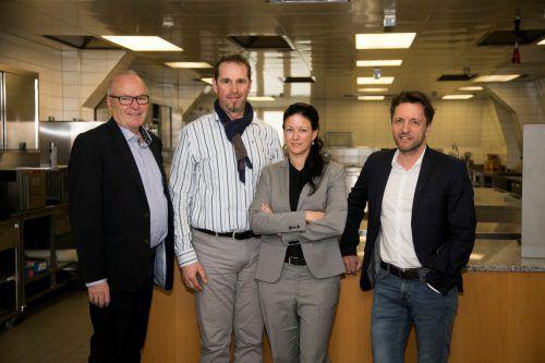 Elmar Herburger, Thomas Hilbrand, Nicole Okhowat-Lehner und Harald Furtner.