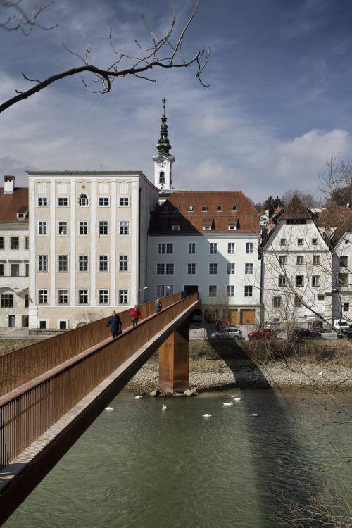 Ennssteg der Vorarlberger Marte.Marte-Architekten in Steyr. Pinjo