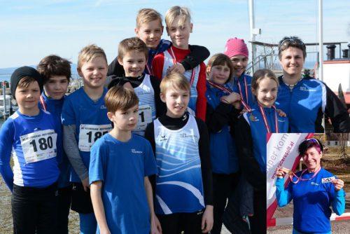 Erfolgreicher Saisonauftakt der TS Lauterach bei den Crosslauf-MS in Lochau. tsl