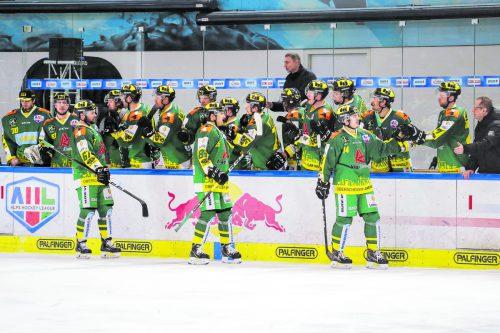Feiner Triumph: Der EHC Lustenau revanchierte sich in Salzburg für die Niederlage im Finale um den österreichischen Meistertitel und warf die Juniors im Play-off-Viertelfinale der AHL-Meisterschaft aus dem Bewerb.gepa
