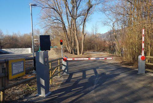 Zufahrt zum Grünschnittsammelplatz an der Lauteracher Straße.