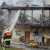 Bauernhof in Flammen