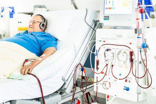 Eine Dialyse, oder Blutwäsche, ist für Nierenpatienten eine wichtige Option. khbg