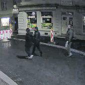 Nach Schussattentat in Bregenz: Überwachungsvideo zeigt mutmaßliche Täter. B1