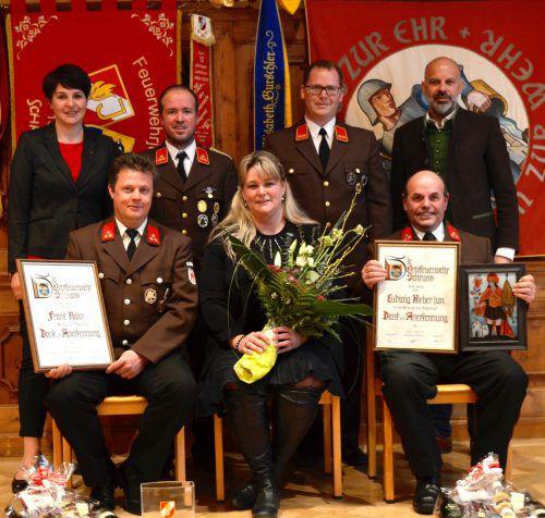 Frank Naier, Ariane Ruprecht und Ludwig Kieber jun. (vorne) sowie Monika Vonier, Lukas Beck, Philipp Neyer und Jürgen Kuster.