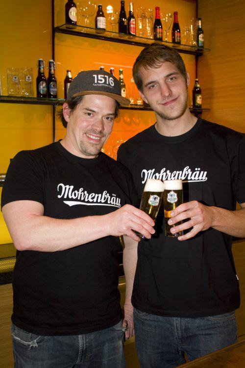 Gaben ihr Wissen preis: Brauer Albert Mühlwerth (l.) und Thomas Stromberger.
