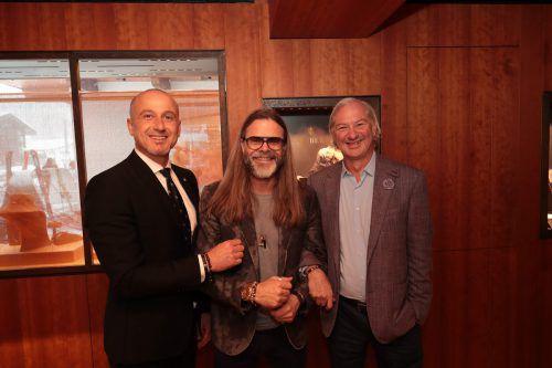 Geschäftsführer Josef Güfel, Schmuckdesigner Mads Kornerup und Norman Huber.ame