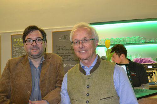 Geschichtsverein-Obmann Christof Thöny und Referent Norbert Walter konnten zahlreiche Besucher im Eichamt begrüßen. BI