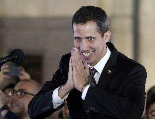Guaidó, der Widersacher Maduros, tourte durch mehrere Länder - eine Provokation für den sozialistischen Staatschef.AFP