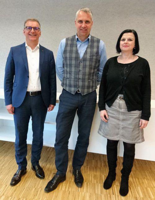 Günther Watzenegger, Stefan Schlosser und Susanne Kraft. KIT