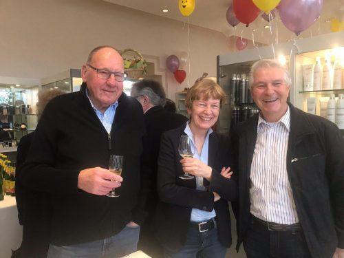 Heinz Dünser, Monika Lindermayr und Hans Dieter Grabher.
