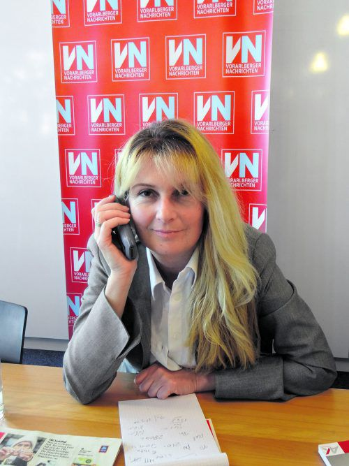 Eva-Maria Düringer nimmt sich für Fragen zum Steuerausgleich Zeit. VN